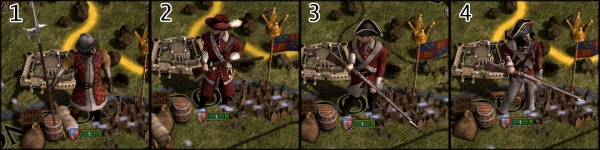 The four sprite levels of England