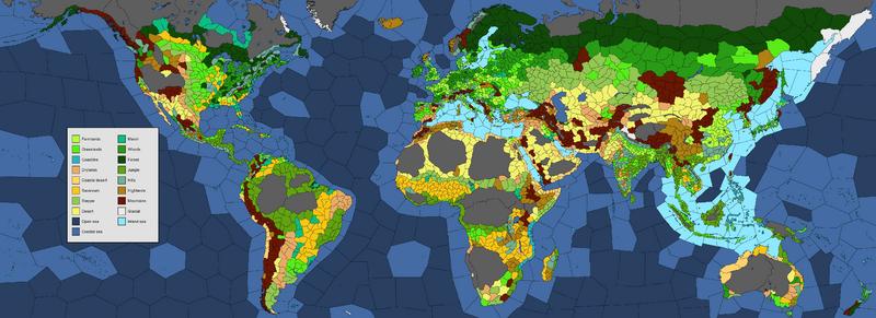 Land Warfare Europa Universalis Wiki - Earth terrain map